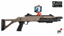 Photo Réplique airsoft connectée FABARM STF/12-11 COMPACT ressort 3 shots 0,8j SHOOTER AR