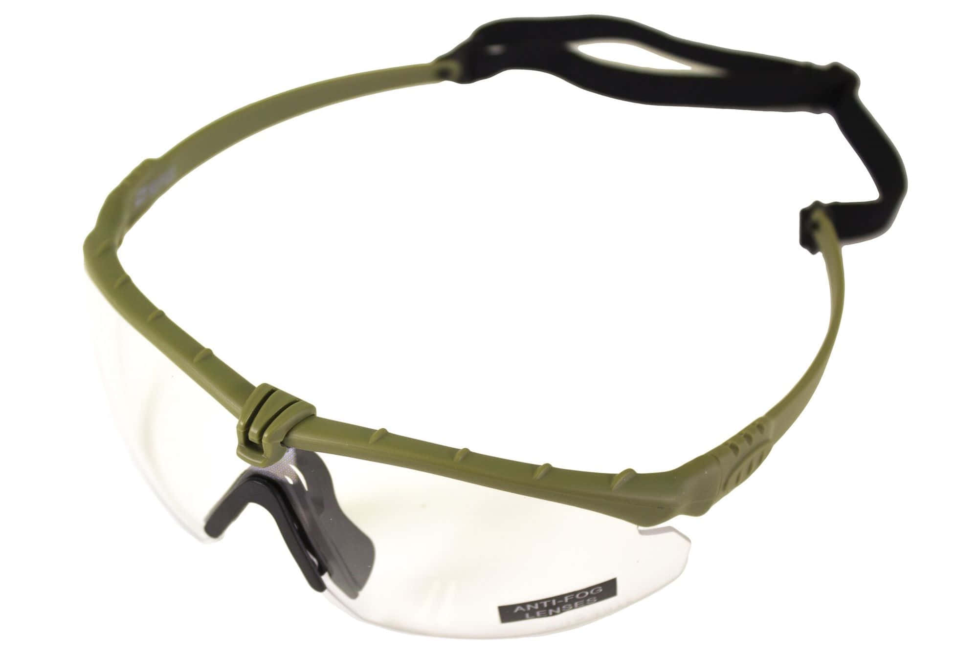 A69641-Lunettes Battle Pro Thermal Vert/Clear - Nuprol - A69641