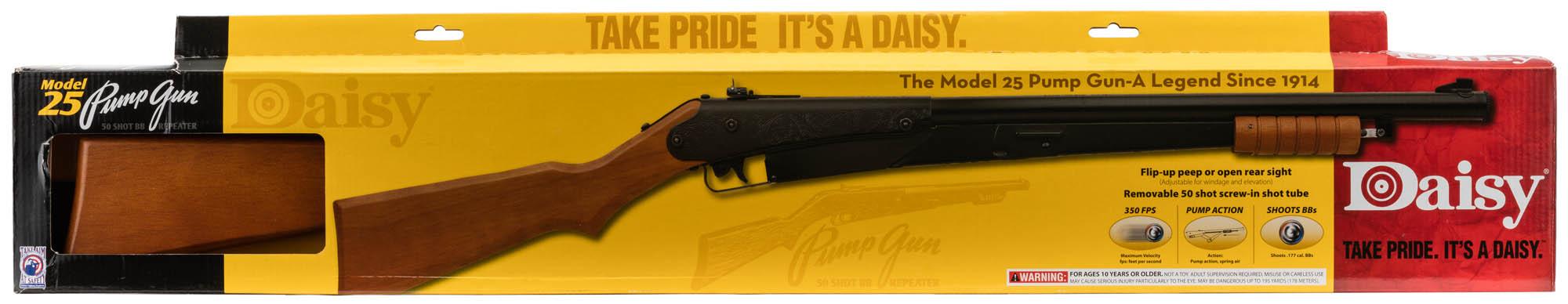 Air rifle Daisy Model 25 Pump Gun spring BB's cal  4 5 mm